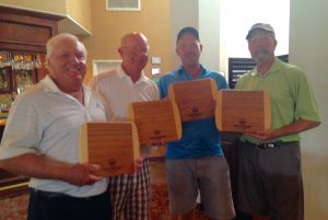 L-R Gary Deems, Dr. Dick Skay, Tim Brand and tournament coordinator Dr. Bob Meisel